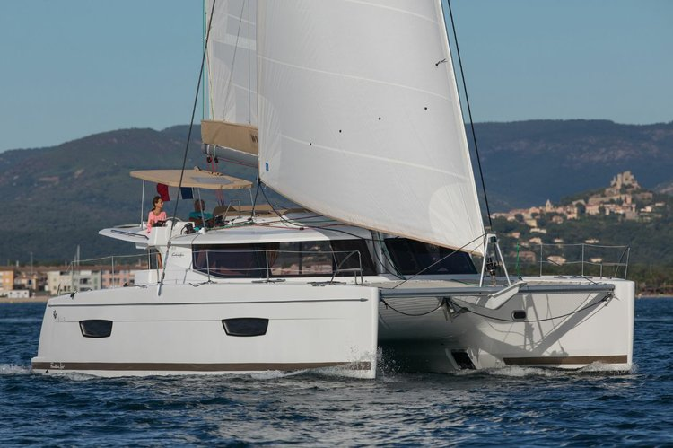 Enjoy luxury and comfort on this Fountaine Pajot in Montenegro