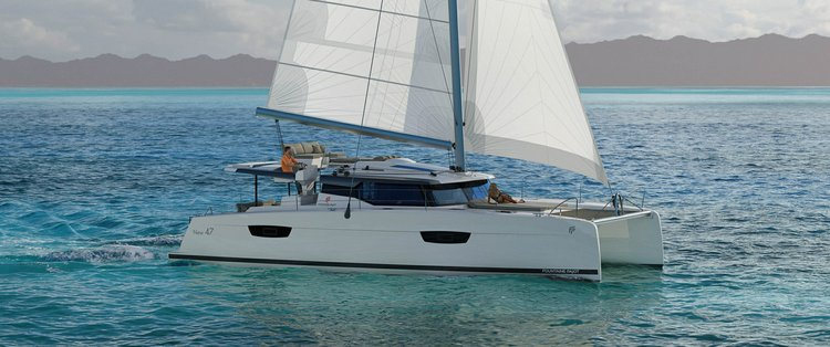 Climb aboard this Fountaine Pajot