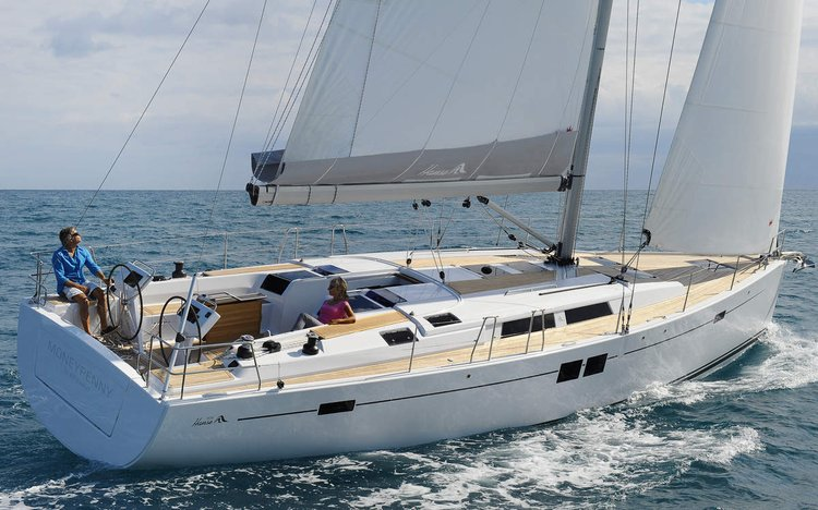 Up to 11 persons can enjoy a ride on this Hanse Yachts boat