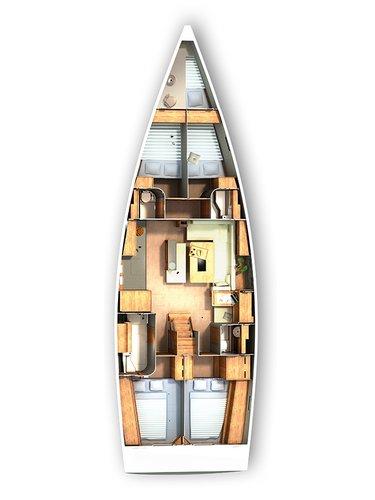 This 50.0' Hanse Yachts cand take up to 11 passengers around Šibenik region