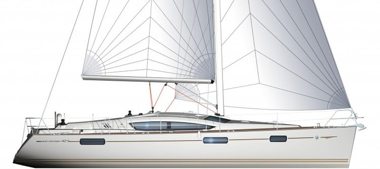 This 42.0' Jeanneau cand take up to 8 passengers around Ionian Islands