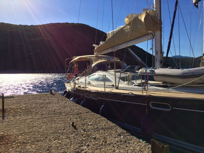 Discover Ionian Islands surroundings on this Sun Odyssey 54 DS Jeanneau boat