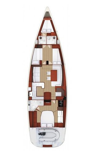 This 58.0' Jeanneau cand take up to 8 passengers around Split region
