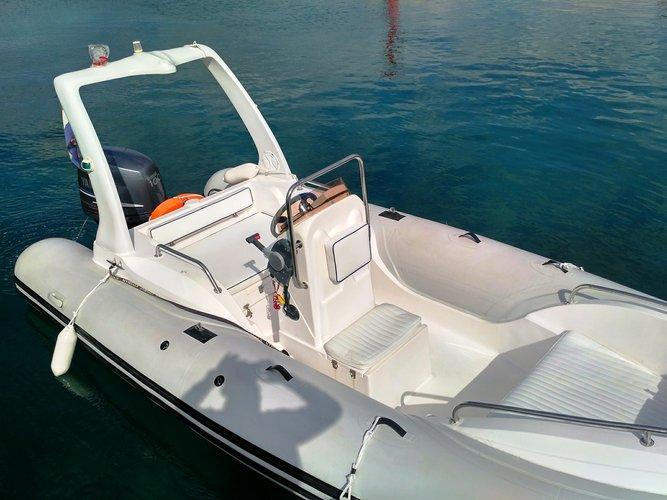 Rigid inflatable boat rental in Marina Trogir – ACI, Croatia