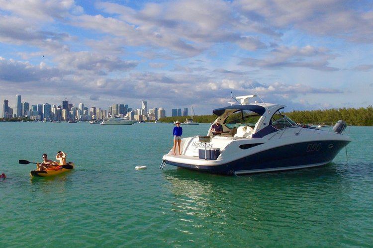 Boating is fun with a Sea Ray in Key Biscayne