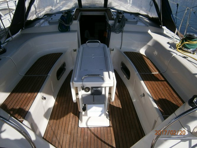 Discover Saronic Gulf surroundings on this Bavaria 47 Bavaria Yachtbau boat