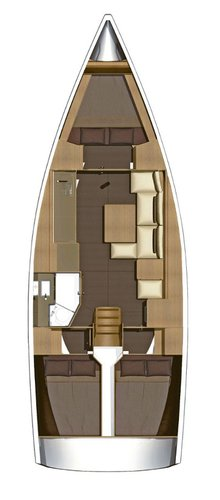 Up to 7 persons can enjoy a ride on this Dufour Yachts boat