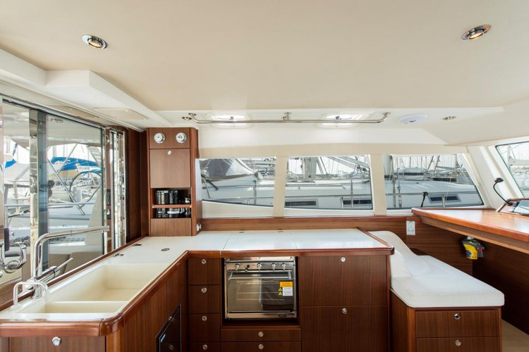 Discover Saronic Gulf surroundings on this Moody 45 DS Moody/Marine Projects boat