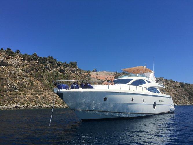 Motor yacht boat rental in Sicily,