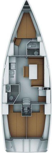 Discover Aegean surroundings on this Bavaria Cruiser 40 Bavaria Yachtbau boat