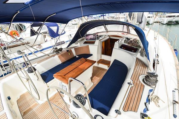 Discover Aegean surroundings on this Bavaria 46 Cruiser Bavaria Yachtbau boat