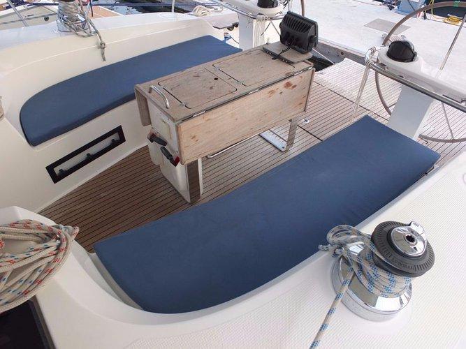 This 51.0' Bavaria Yachtbau cand take up to 11 passengers around Aegean