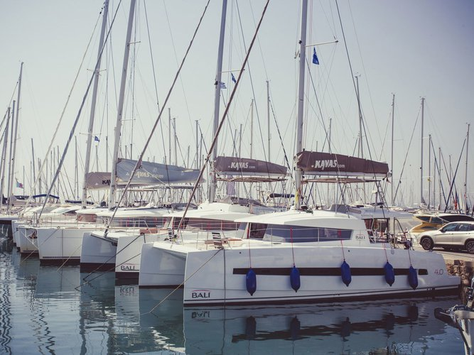 Discover Ionian Islands surroundings on this Bali 4.0 Catana boat