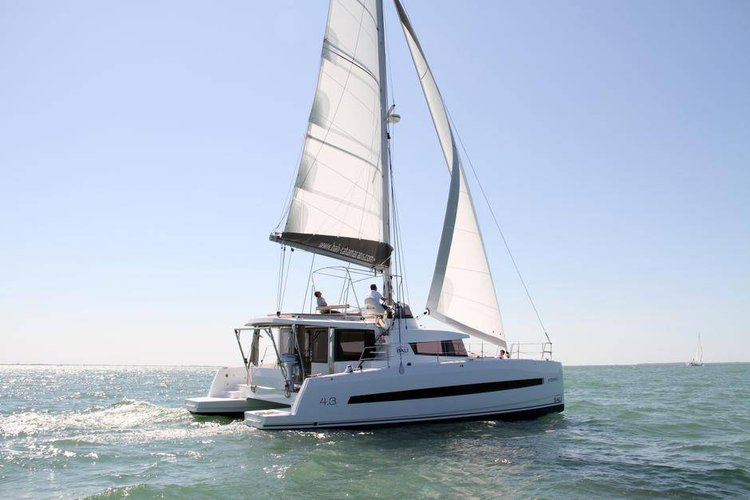 This 42.0' Catana cand take up to 8 passengers around Saronic Gulf