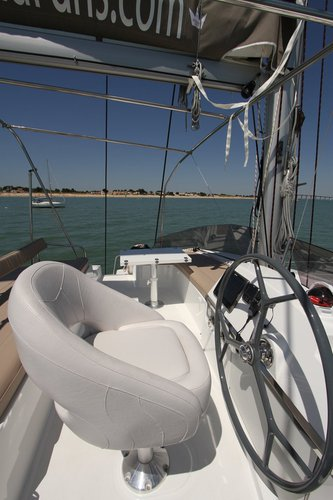 Catamaran boat for rent in Saronic Gulf