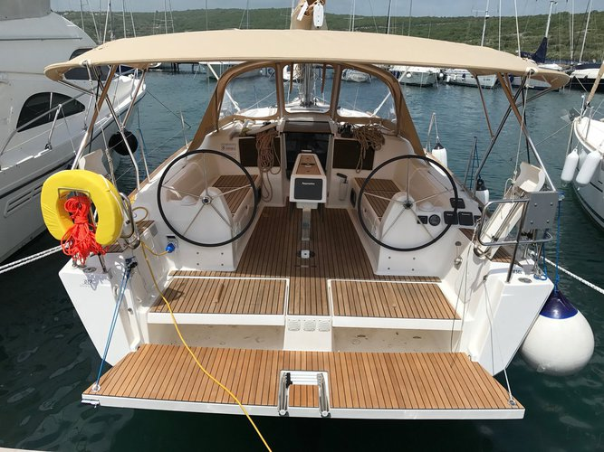Discover Kvarner surroundings on this Dufour 382 GL Dufour Yachts boat