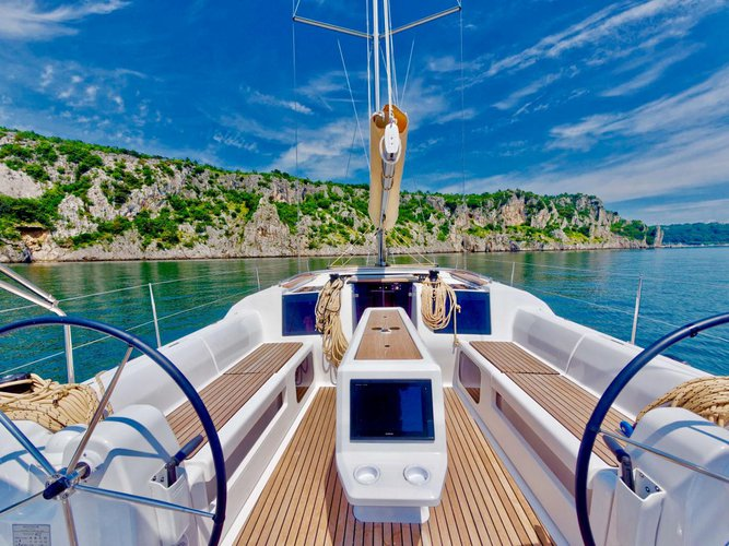 Discover Campania surroundings on this Dufour 412 GL Dufour Yachts boat