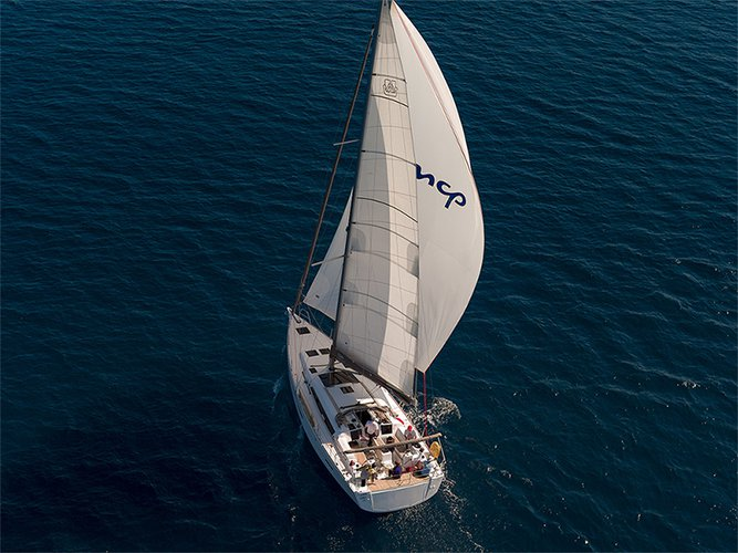 This 46.0' Dufour Yachts cand take up to 6 passengers around Šibenik region