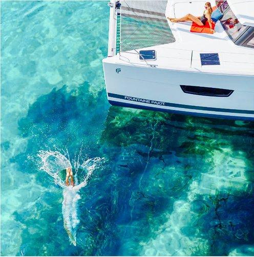 Boating is fun with a Catamaran in Campania
