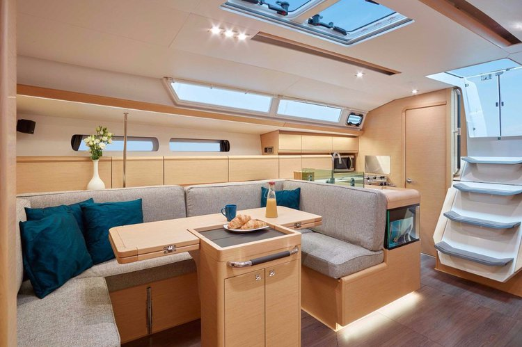 Discover Saronic Gulf surroundings on this Sun Odyssey 449 Jeanneau boat