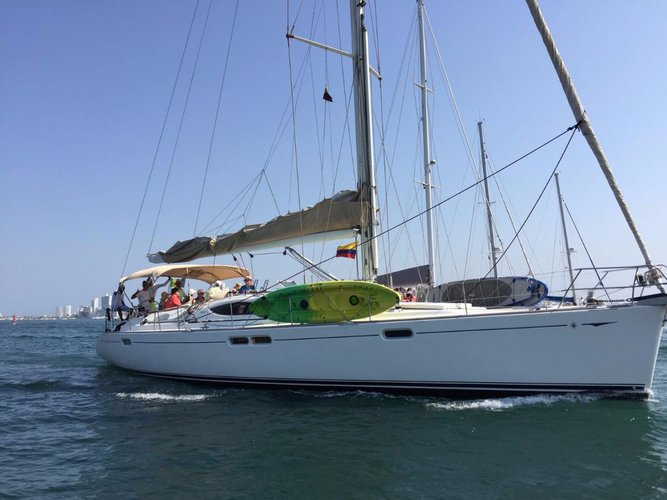 Discover Cartagena surroundings on this Sun Odyssey 54 DS Jeanneau boat