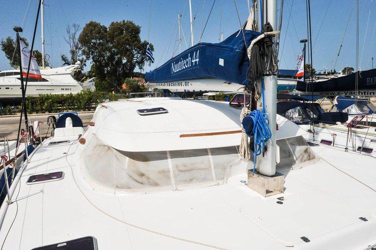 Discover Ionian Islands surroundings on this Nautitech 44 Nautitech Rochefort boat