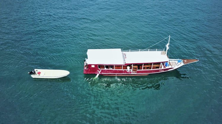 This 20.0' Sulawesi cand take up to 10 passengers around Labuan Bajo