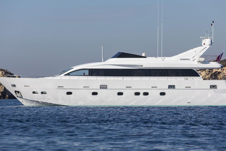 Come and enjoy this beautiful mega yacht in the Mediterranean with your friends!