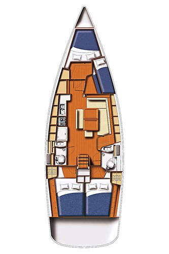 Discover Ionian Islands surroundings on this Oceanis 43 Bénéteau boat