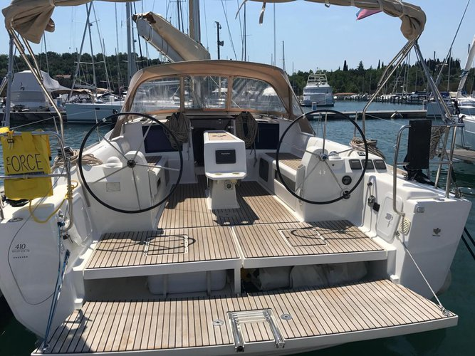 Discover Primorska  surroundings on this Dufour 410 GL Dufour Yachts boat