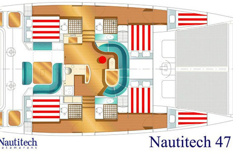 Discover Athen surroundings on this 47 Nautitech boat
