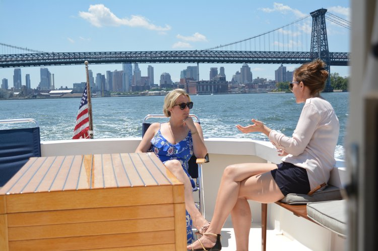 Downeast boat rental in pier 25, NY