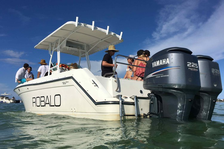Discover Miami surroundings on this 2620 Robalo boat