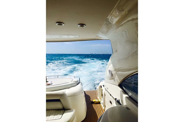 Up to 15 persons can enjoy a ride on this Sunseeker boat