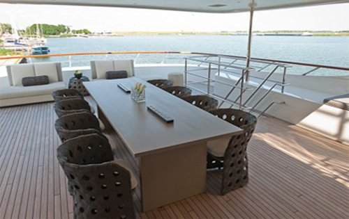 This 139.44' Dutch Yacht Builders cand take up to 12 passengers around Cannes
