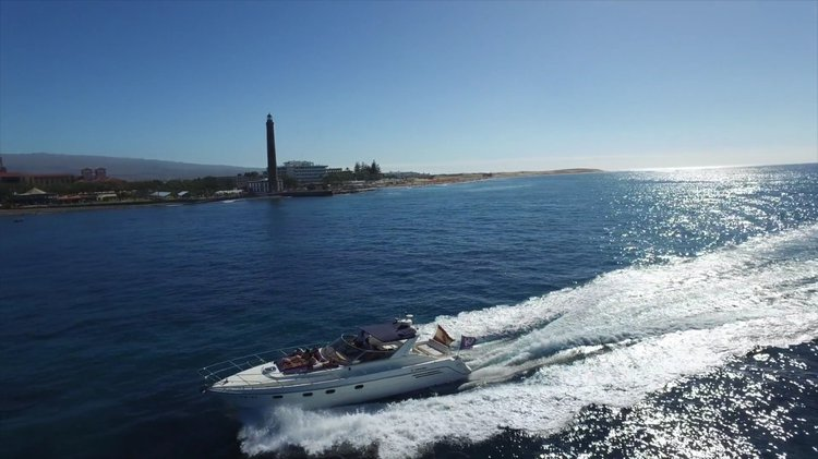 Discover Maspalomas surroundings on this Riviera 46 Marine Project boat