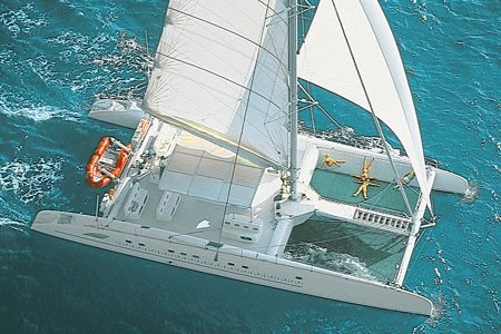 Cruise through the Mediterranean on this spacious Fountaine Pajot  catamaran