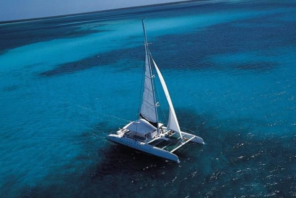 Up to 56 persons can enjoy a ride on this Catamaran boat
