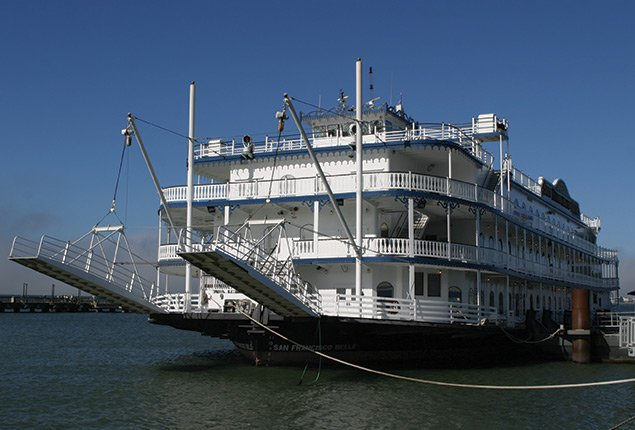 Up to 2000 persons can enjoy a ride on this Mega yacht boat