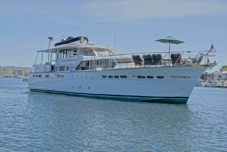 Explore Newport Beach on a 63' motor yacht