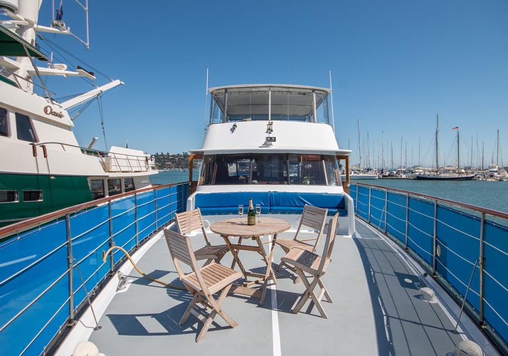 Up to 50 persons can enjoy a ride on this Motor yacht boat