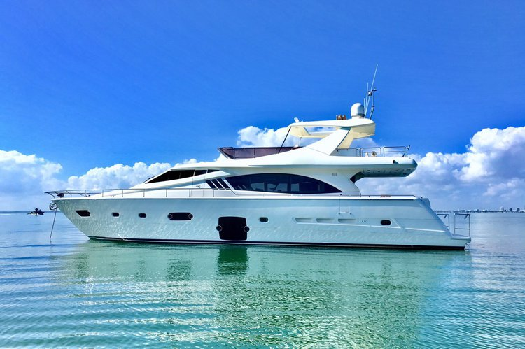 Cruise on our beautiful 75' Ferretti Yacht through Miami