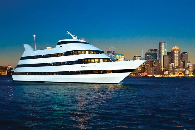 This Mega-Yacht is the Perfect Venue on the Boston Harbor