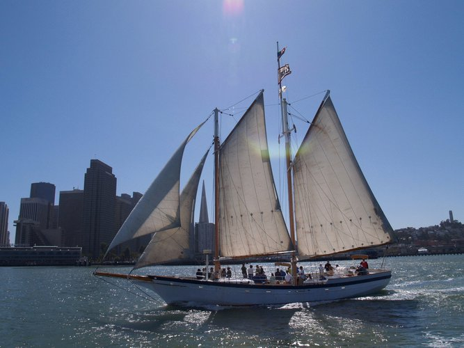 Schooner boat for rent in San Francisco