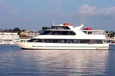 Experience royalty on a 100' motor yacht