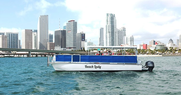 Catamaran boat rental in Miami, FL