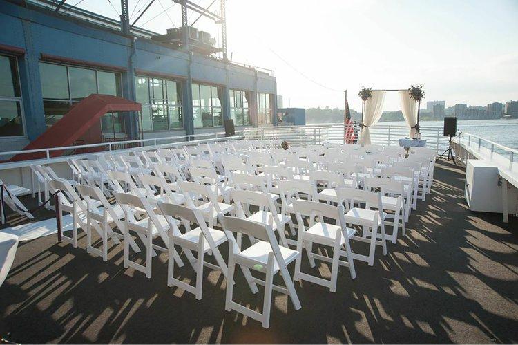 Mega yacht boat rental in Chelsea piers, NY
