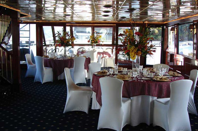 Up to 120 persons can enjoy a ride on this Motor yacht boat