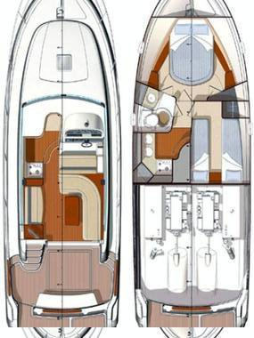 Up to 4 persons can enjoy a ride on this Jeanneau boat