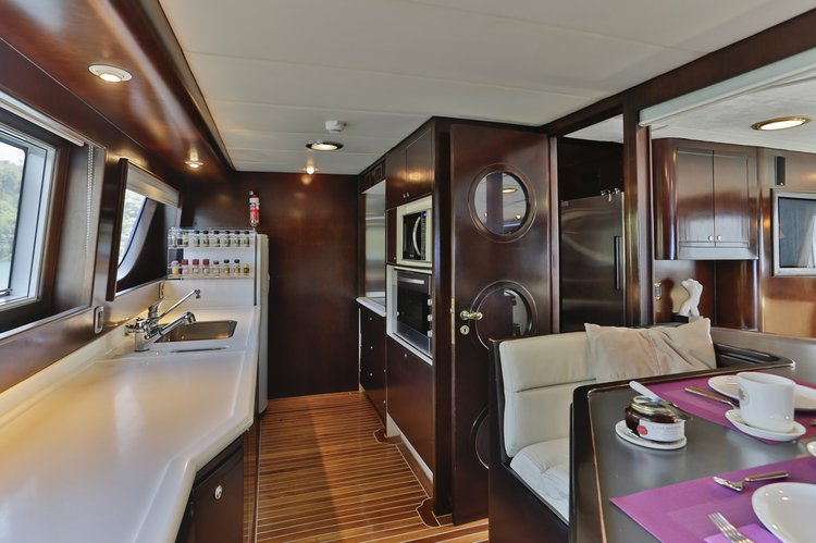 Up to 12 persons can enjoy a ride on this Motor yacht boat
